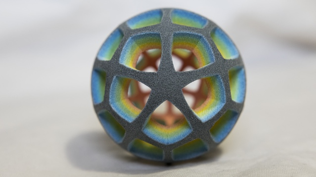 A full color 3D print from the NexD1 3D printer