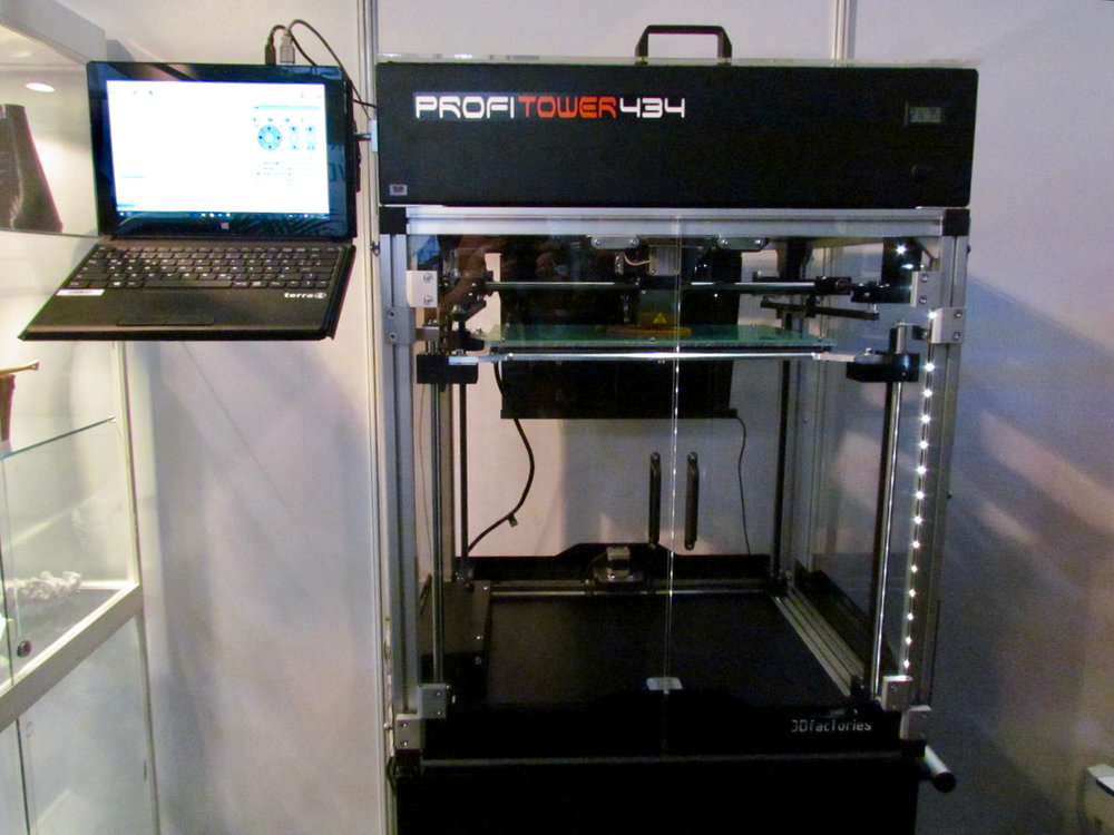 3Dfactories' ProfiTower 434 desktop 3D printer