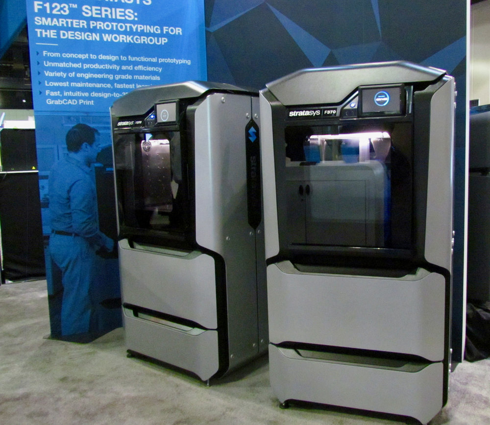 The new Stratasys F370 rapid prototyping 3D printer