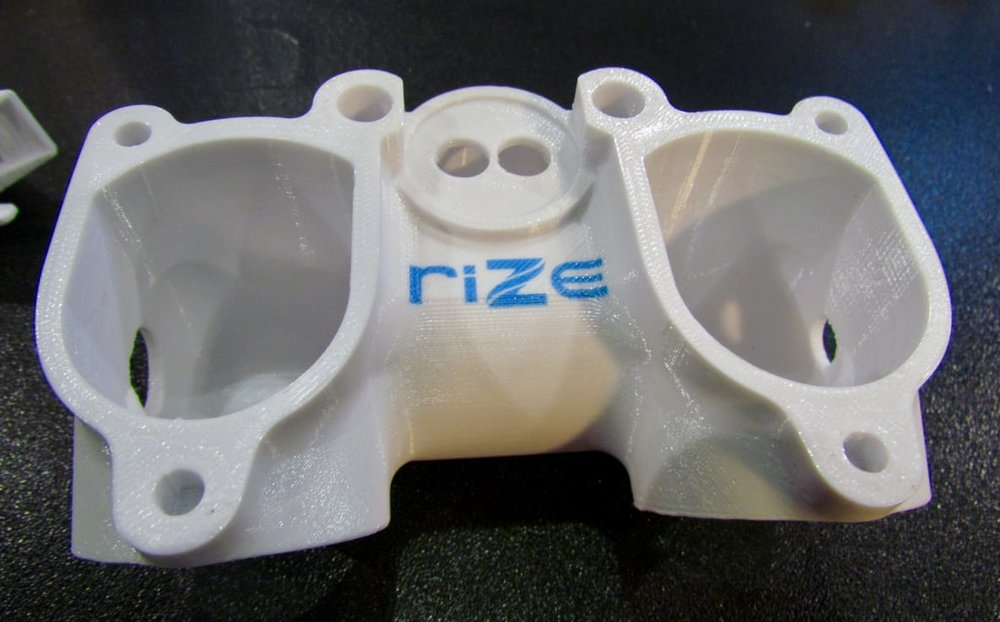 A strong plastic part 3D printed by the Rize system