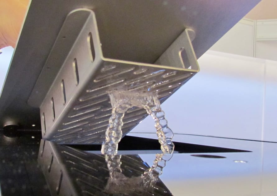 A sample transparent 3D print from W2P's SolFlex system