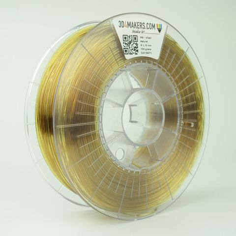 PEI 3D printer filament from 3D4Makers, one of the many unusual materials they produce
