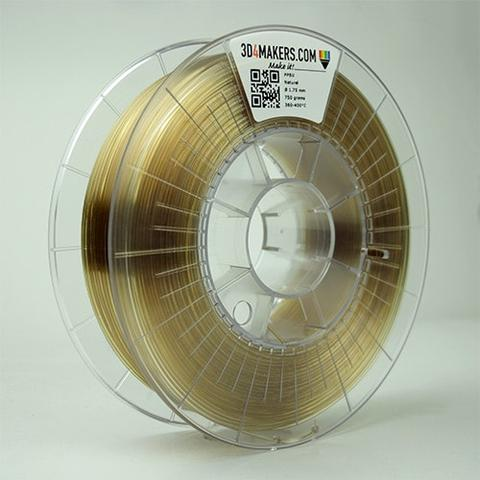 A spool of PPSU 3D printer filament from 3D4Makers