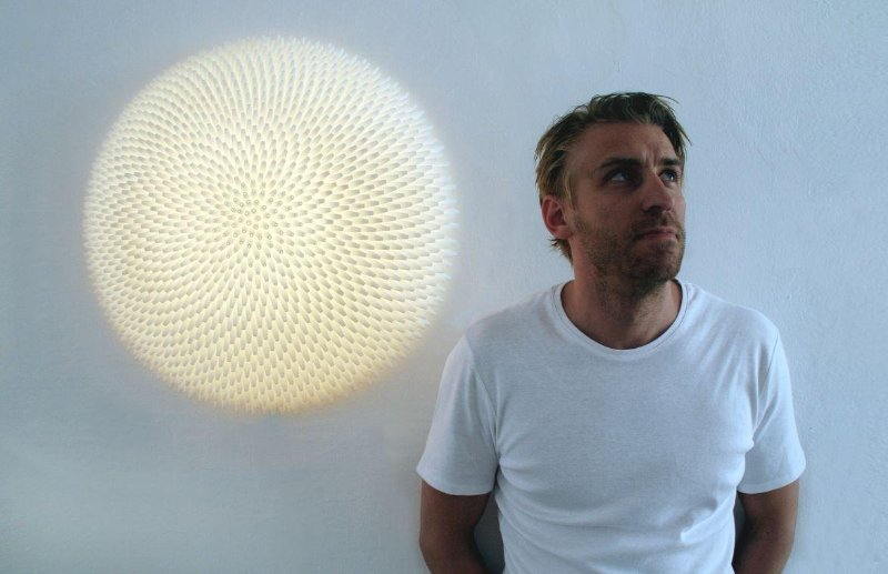 3D designer Janne Kyttannen with his 1597 light