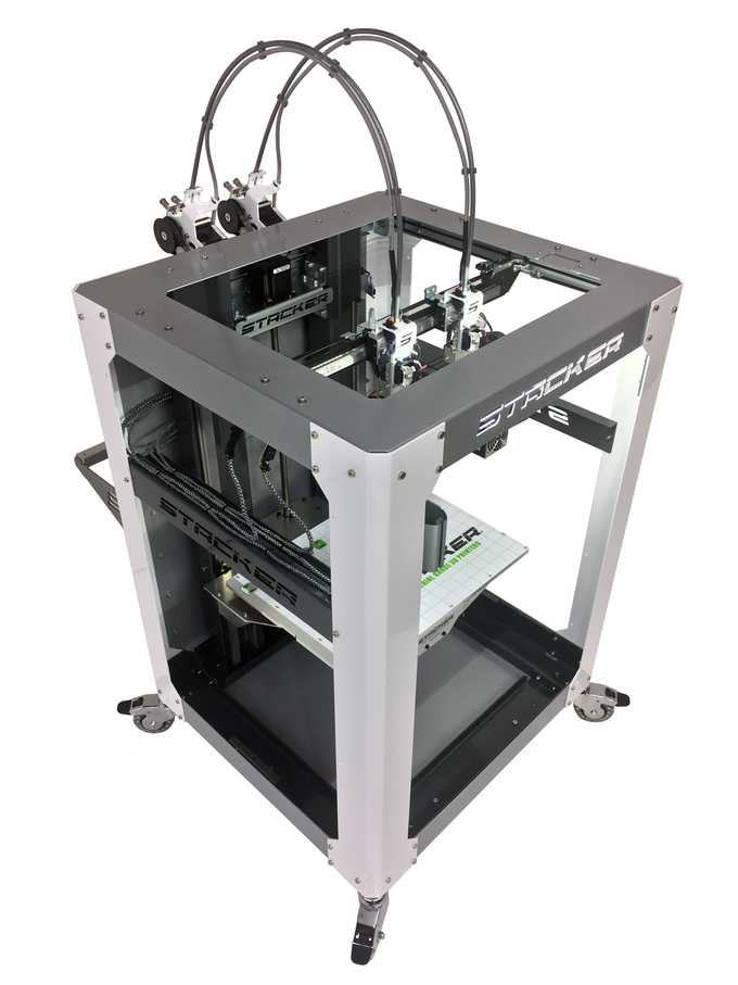 The new STACKER S2 professional 3D printer