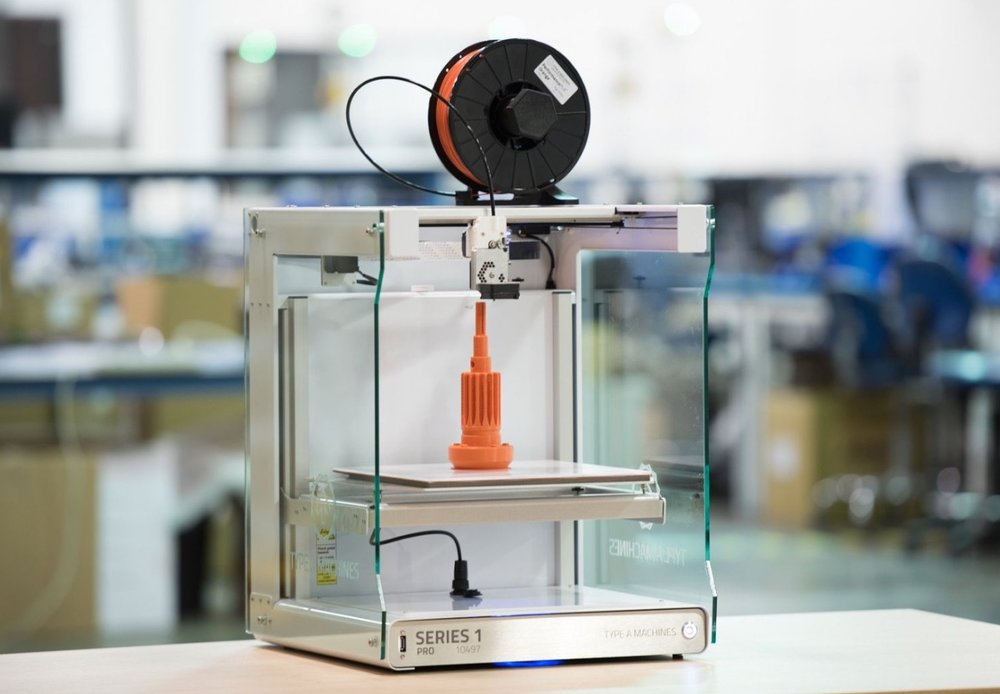 Type A Machines' Series 1 Pro desktop 3D printer