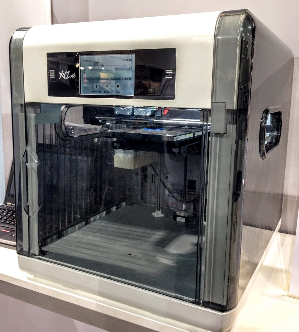 The original Da Vinci 1.0 desktop 3D printer, as seen in 2014