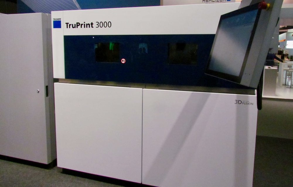 The Trumpf TruPrint 3000 industrial 3D metal printer