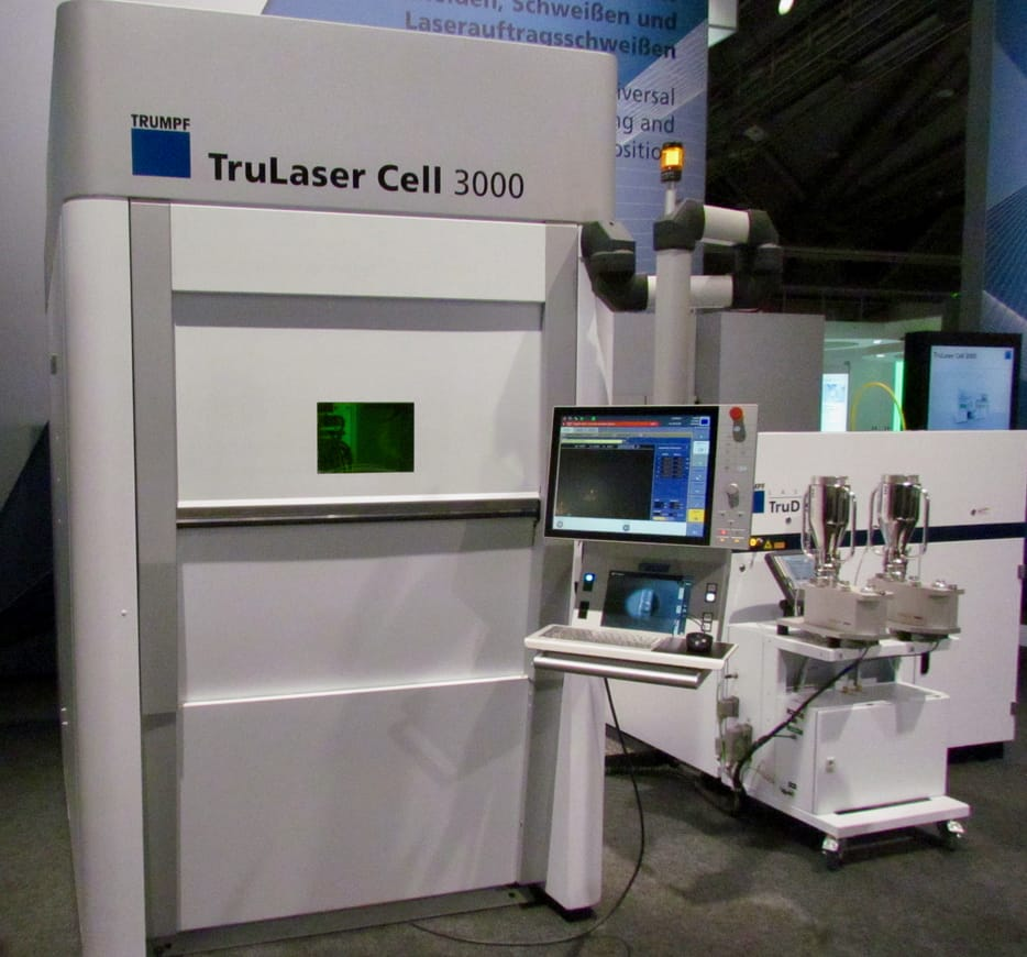 The Trumpf TruLaser Cell 3000 deposition-based 3D metal printer
