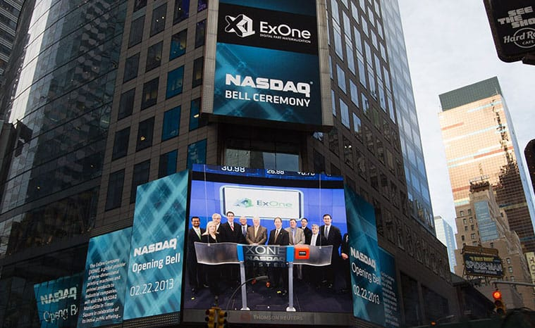 ExOne at the stock exchange