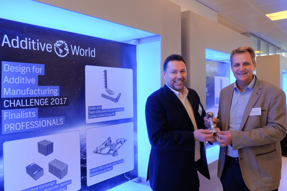 Wim Caris Jan-Willem van der Voort at the Design for Additive Manufacturing Challenge 2017