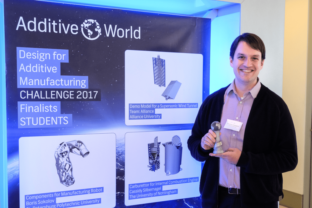 Cassidy Silbernagel at the Design for Additive Manufacturing Challenge 2017