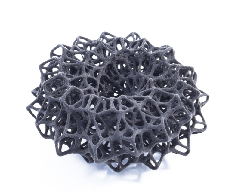 A complex part 3D printed in nylon