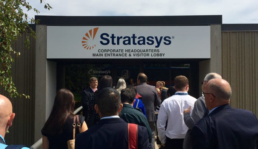 We now now officially what Stratasys intends on doing