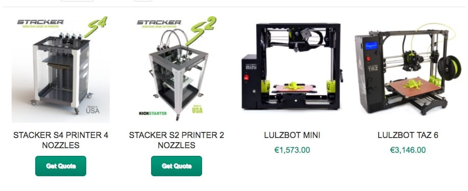 colorFabb's current 3D printer product shelf