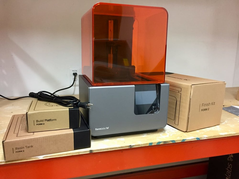 Getting ready to put together a Formlabs Form 2 desktop 3D printer