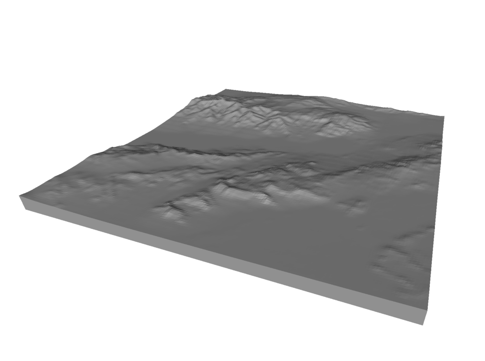A 3D model of Death Valley, near Furnace Creek