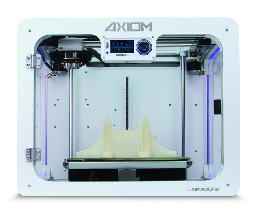 Airwolf's AXIOM, one of many choices for professional desktop 3D printing