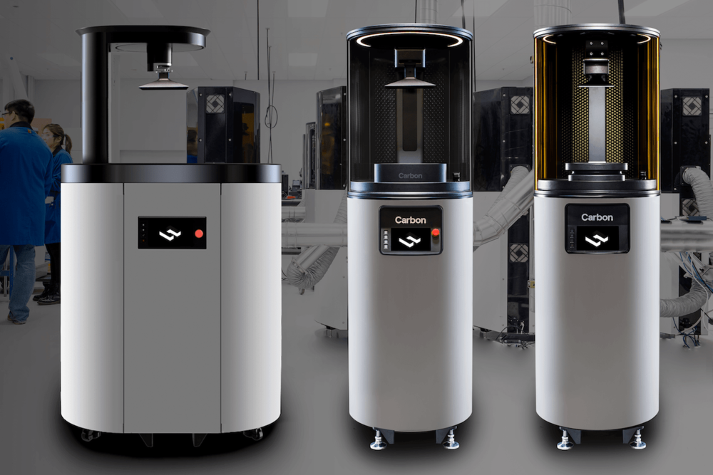 Carbon's current fleet of professional 3D printers