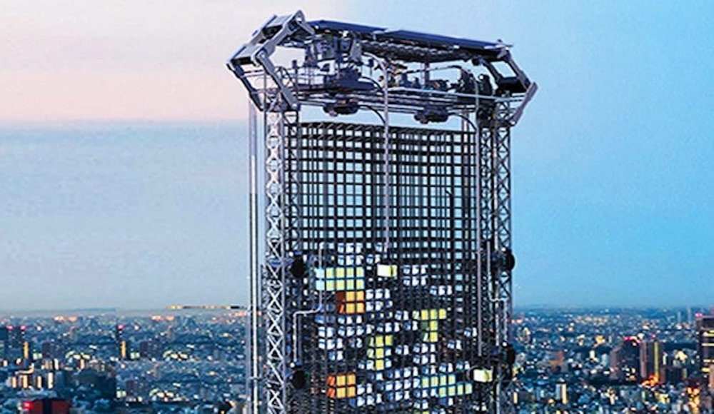 A skyscraper outfitted with 3D printers?