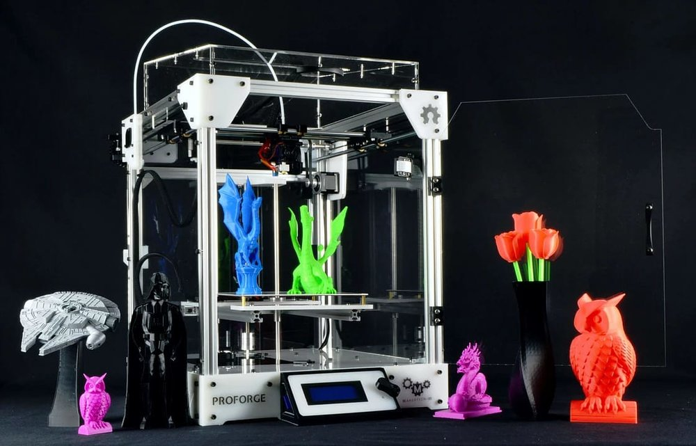 The Proforge 3D printer kit (in assembled form)