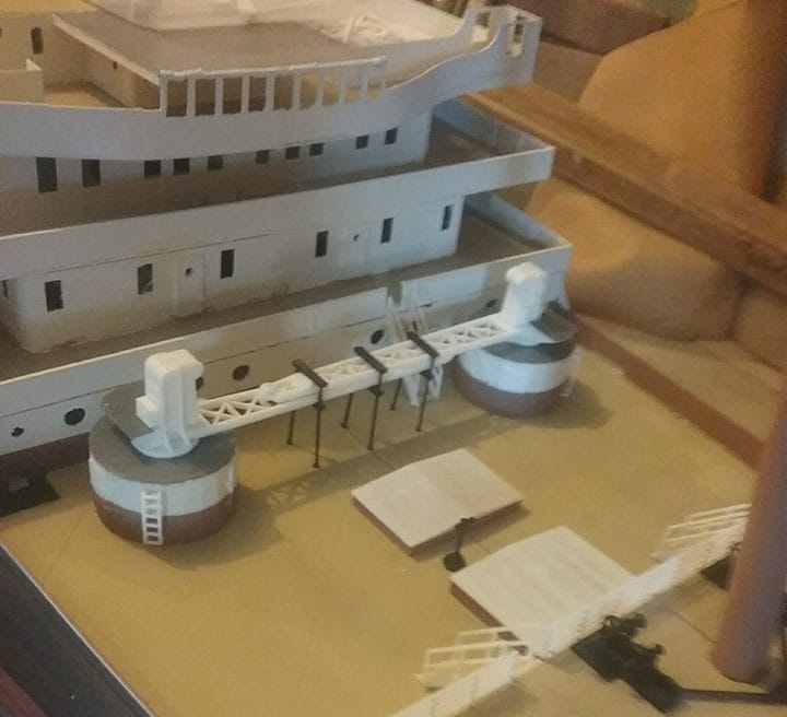 The 3D printed Titanic model includes considerable detail
