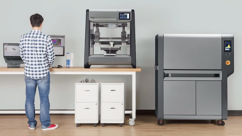 The Desktop Metal Studio 3D metal printer, suitable for office use