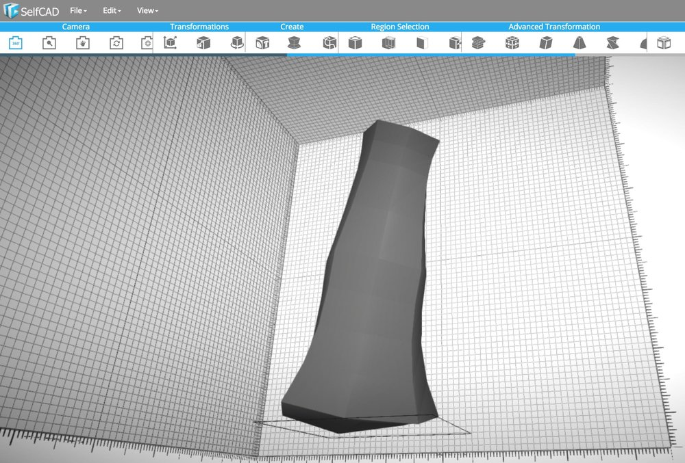 Designing a vase shape in 3D using the new SelfCAD 3D modeling service