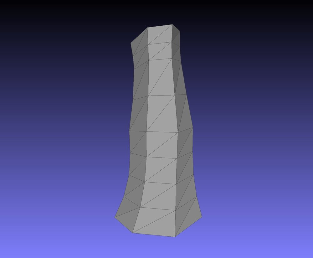 A completed vase shape made in the SelfCAD online 3D modeling service