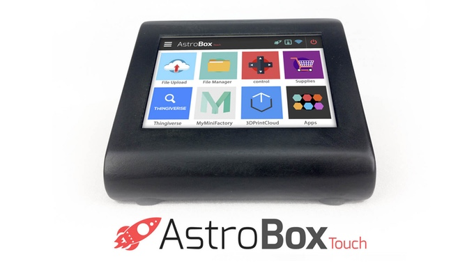 The new AstroBox Touch for controlling desktop 3D printers
