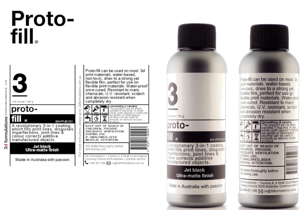 3D Formulations' Proto-Fill product