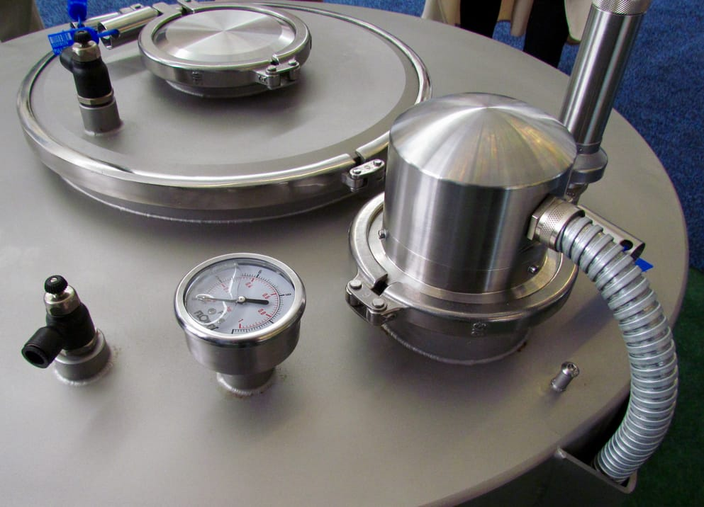 Part of LPW's metal powder management system