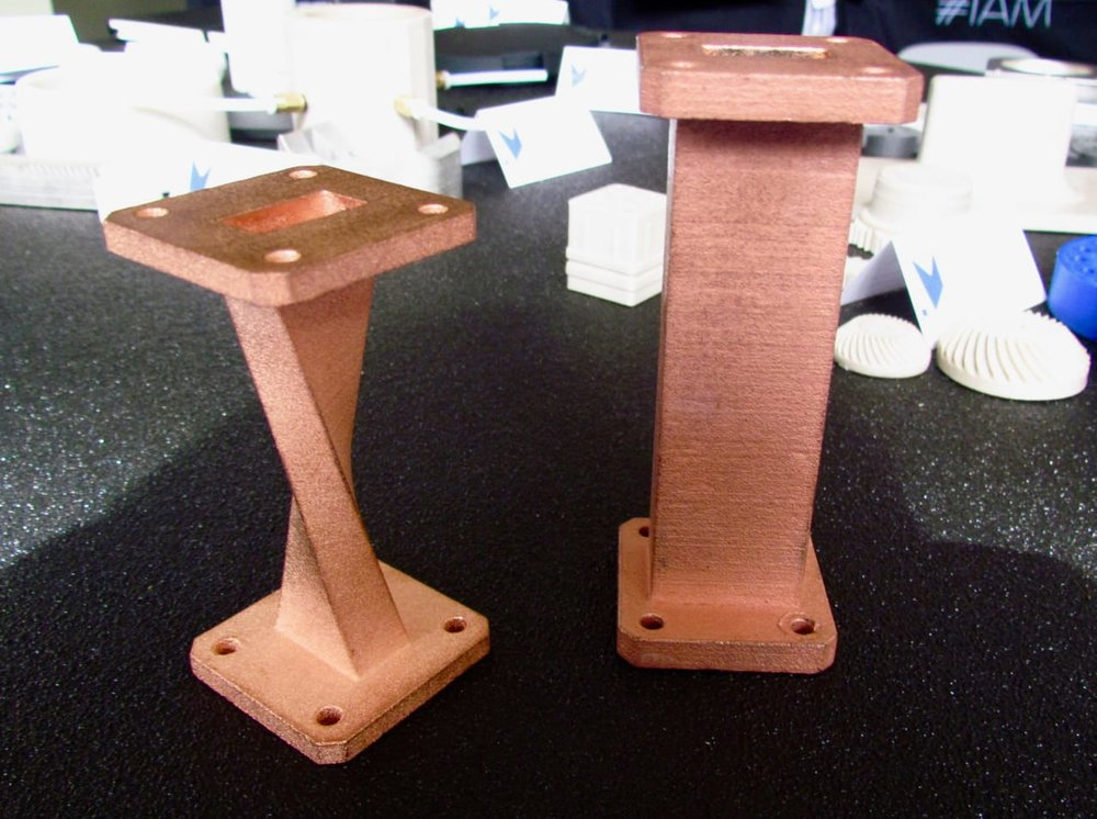 Copper-plated 3D printed plastic parts by Roboze