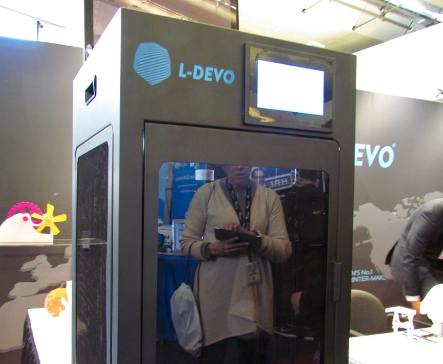 One of L-Devo's several professional 3D printers