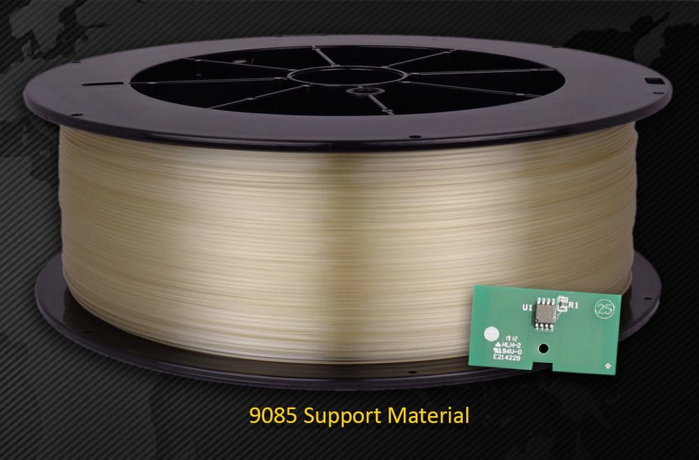 A spool of Stratasys-compatible 3D print material from Triton 3D
