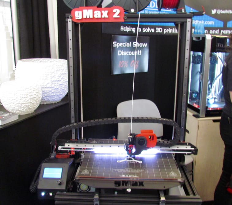 The gMax 2 desktop 3D printer from gCreate