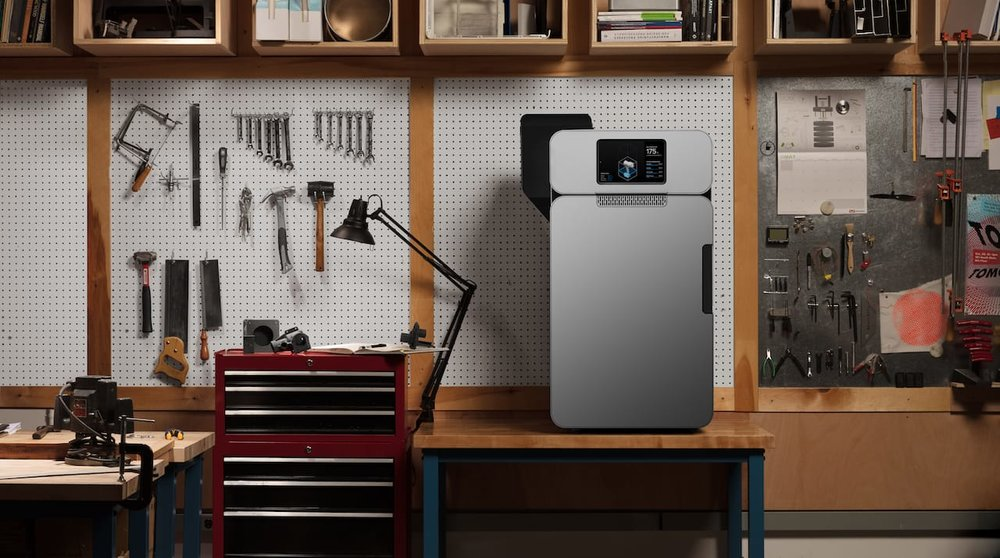 The new Fuse 1 SLS industrial 3D printer from Formlabs in a workshop