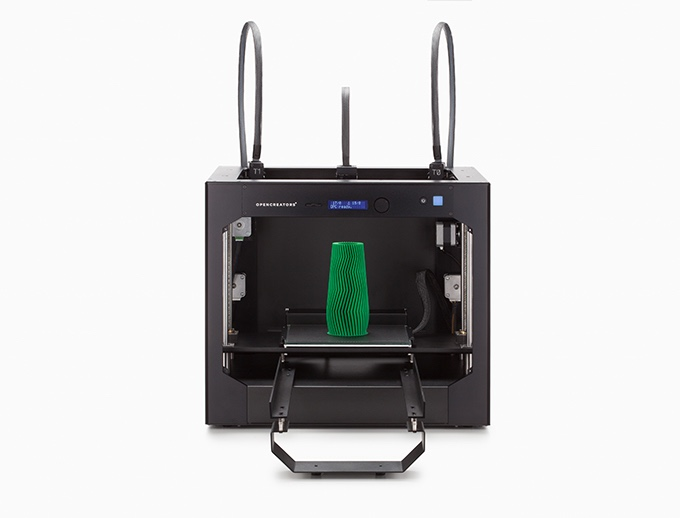 The new OPENCREATORS BS210 3D printer offers two unusual automation features