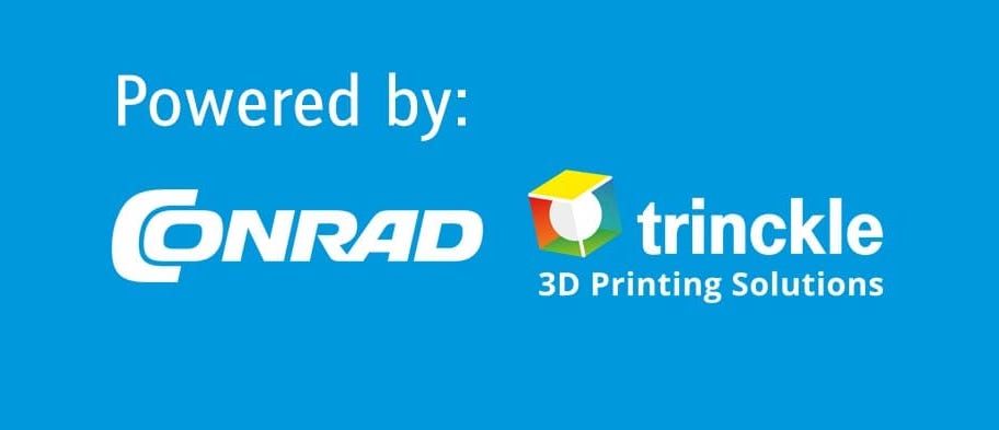 Trinckle's 3D print service is now available on Conrad's site