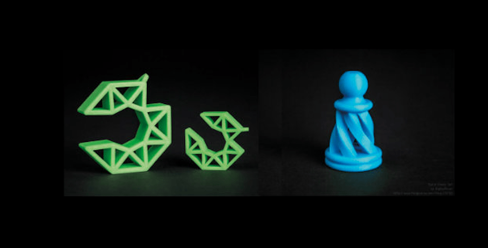 Sample prints from the Velleman Vertex Nano desktop 3D printer