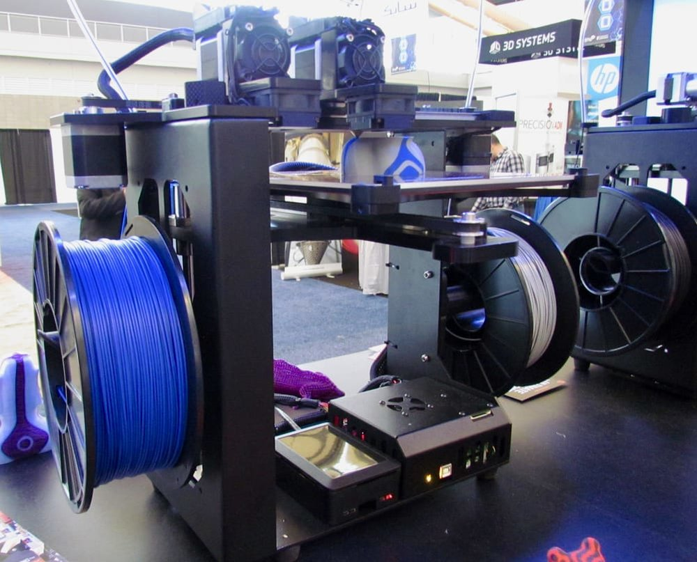 The MakerGear M3 Independent Dual desktop 3D printer