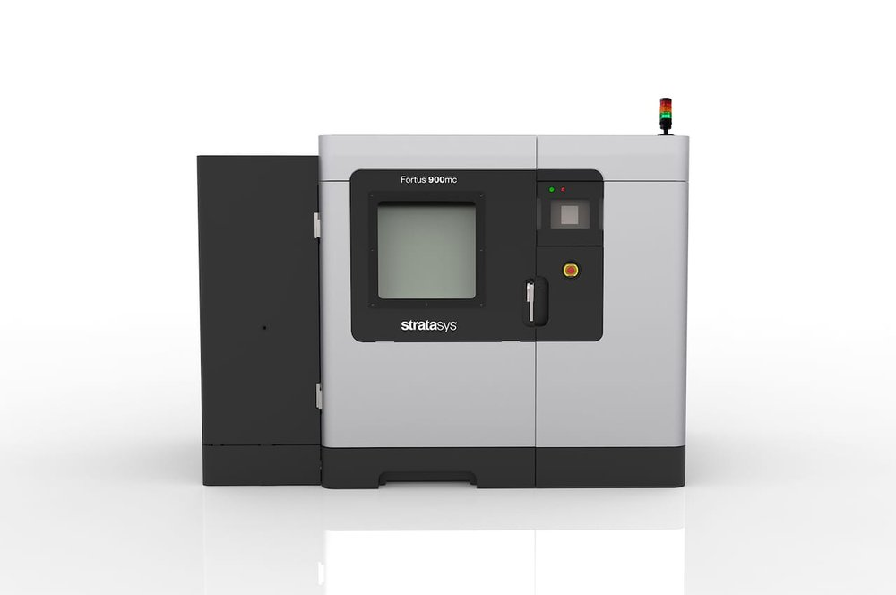 The Stratasys Fortus 900mc, their largest volume production 3D printer to date