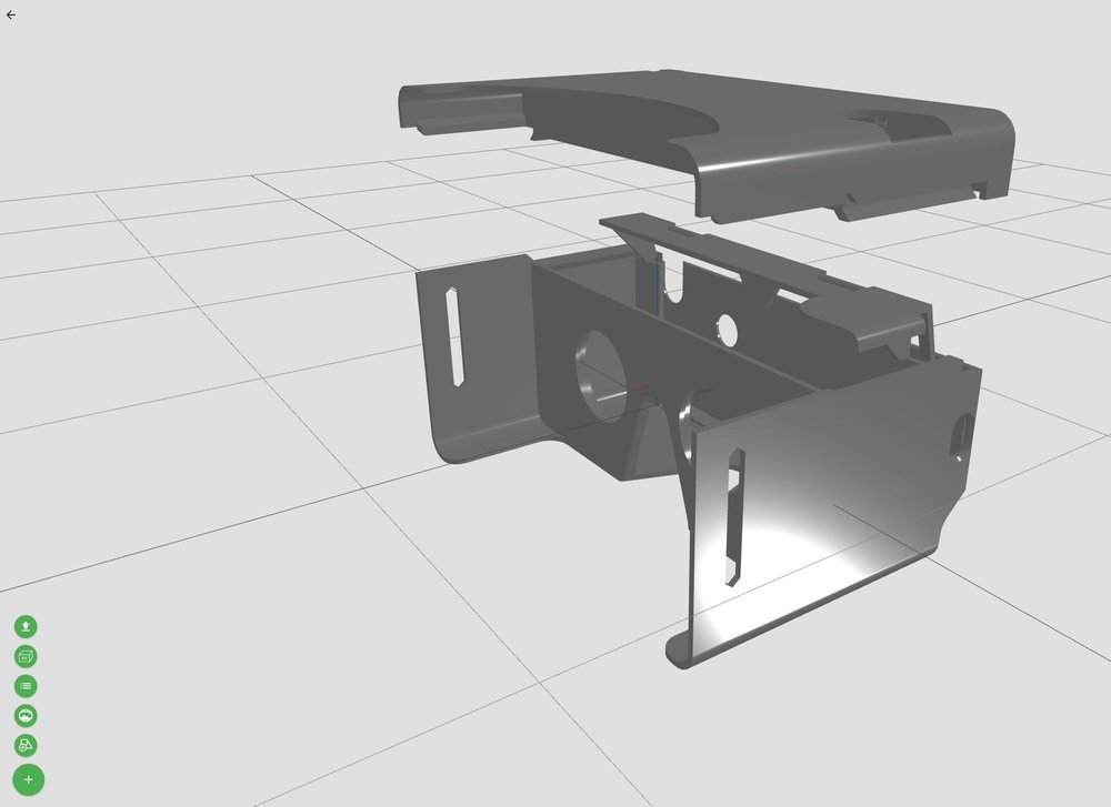 A sample 3D model editable on the 3D Orchard open hardware sharing service