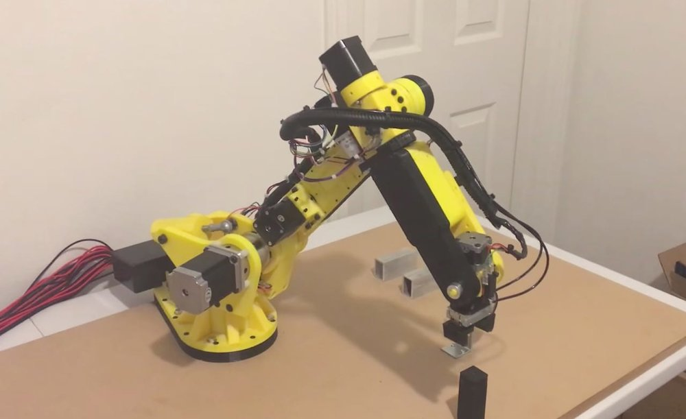 A 3D printed six-axis robot arm