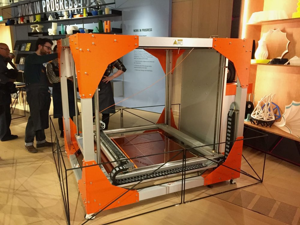 Not so well-hidden in London's Design Museum is a BigRep large-format 3D printer