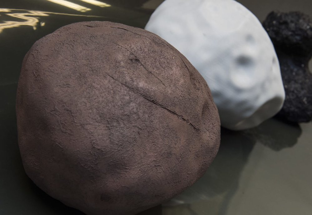 3D printed asteroid models, used in a way you might not expect