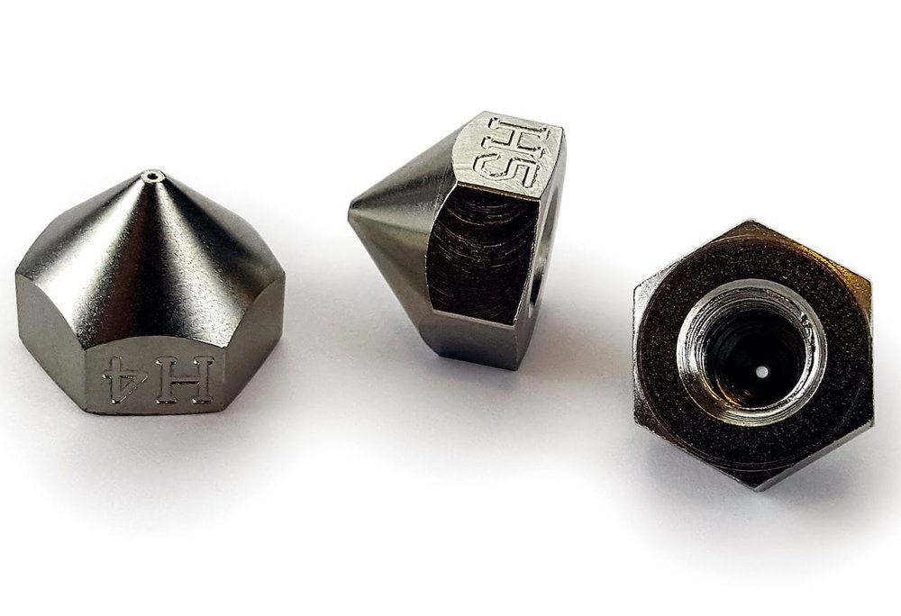 Replacement high performance 3D printer nozzles from P-3D