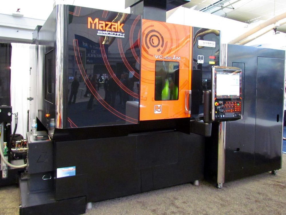 The Mazak VC-500AM 3D metal hybrid CNC printer