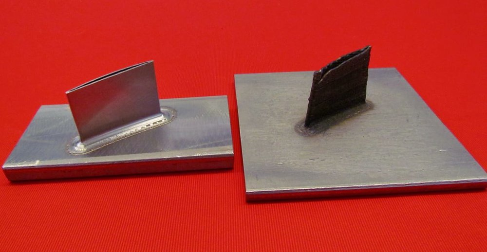 Sample metal 3D prints from the Mazak VC-500AM