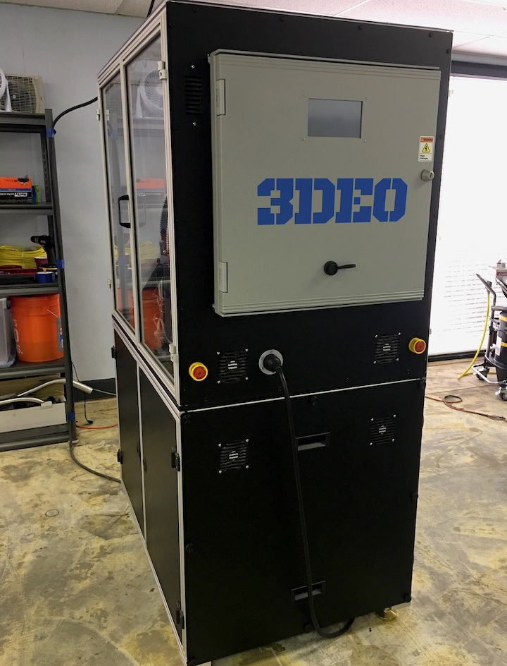 One of 3DEO's production 3D metal printers